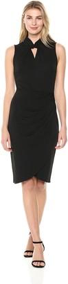Lark & Ro Amazon Brand Women's Sleeveless Twist Neck Dress