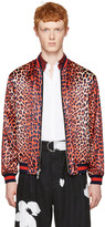 3.1 Phillip Lim Reversible Orange Leopard Bomber Jacket