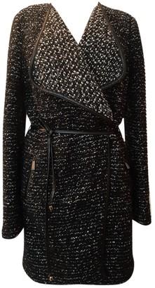 Pinko Black Wool Coat for Women