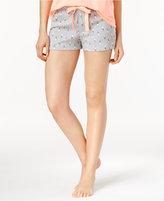 Jenni by Jennifer Moore Printed Cotton Knit Boxer Pajama Shorts, Only at Macy's