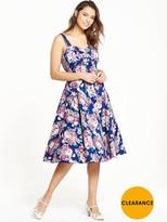Joe Browns Into The Night Summer Dress - Pink/Blue