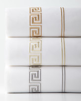 Peter Reed Two Standard Greek Key Embroidered 200TC Pillowcases