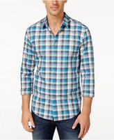 HUGO BOSS Green Men's Check Long-Sleeve Shirt