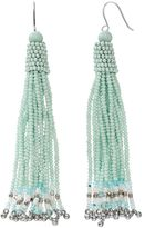 Mudd Seed Bead Tassel Nickel Free Drop Earrings