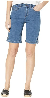FDJ French Dressing Jeans Lightweight Denim Olivia Bermuda with Button Detail in Indigo (Indigo) Women's Jeans