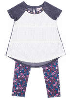 Little Lass 2-pc. Short Sleeve Tunic Legging Set Baby Girls