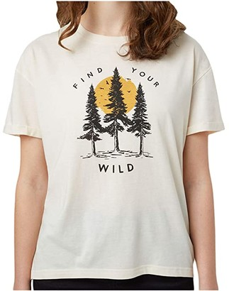 tentree Your Wild Relaxed T-Shirt (Elm White Heather) Women's T Shirt