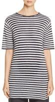Eileen Fisher Petites Striped Knit Organic Linen Tunic