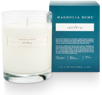 Magnolia Home Boxed Glass Candle Restore