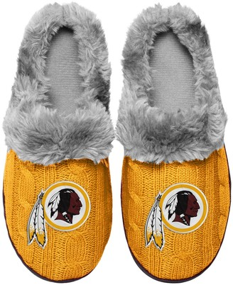 Women's Washington Redskins Cable Knit Slide Slippers