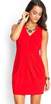 LOVE21 LOVE 21 Pleated Woven Sheath Dress