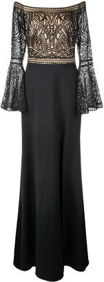 Tadashi Shoji Sequinned Strapless Gown