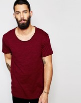 ONLY & SONS Scoop Neck Longline T-Shirt