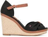Tommy Hilfiger crossed front wedge sandals