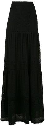 Martha Medeiros Yana lace maxi skirt