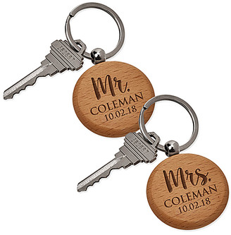 Personalized Planet Key Chains - 'Mr.' & 'Mrs.' Personalized Key Chain Set