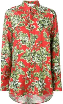 AMI Paris Floral-Print Oversized Shirt