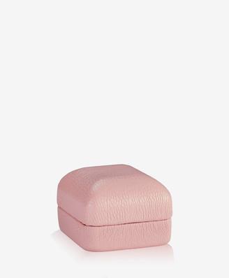 "GiGi New York I Do"" Goatskin Leather Ring Box, Petal Pink"