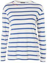 Topshop Romantic tab stripe t-shirt