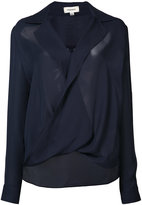 L'Agence twisted top - women - Silk - XS