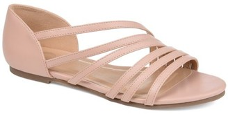 Brinley Co. Womens Crossover Strap D'orsay Sandal