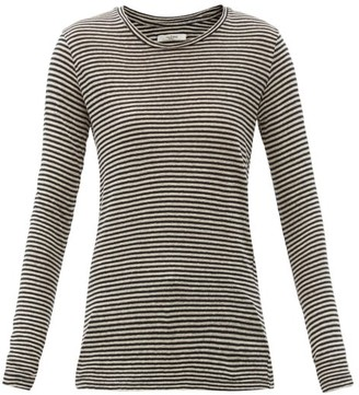 Etoile Isabel Marant Kaaron Striped Linen-blend Long-sleeved T-shirt - Cream