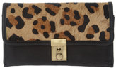 Asos Leather Leopard Print Pony Skin Purse