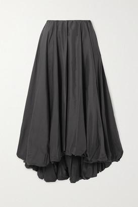STAUD Mariposa Shell Midi Skirt - Black