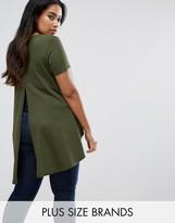 AX Paris Plus T-Shirt With Dip Hem