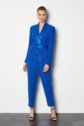 Karen Millen Tuxedo Wrap Jumpsuit