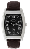 Beverly Hills Polo Club Mens Silver Tone Tank Strap Watches