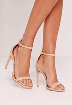 Missguided Barely There Heeled Sandal Nude