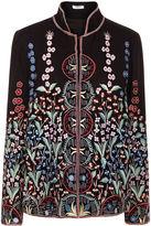 Vilshenko Black Wool Garden Embroidered Annie Jacket