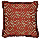 Rose Tree Harrogate Fringed Geometric Diamond Reversible Square Pillow