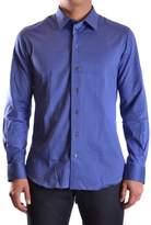 Armani Collezioni Men's Blue Cotton Shirt.