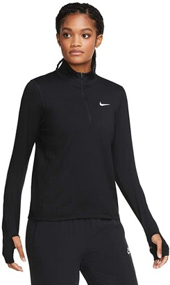 Nike Element Top 1/2 Zip (Black/Reflective Silver) Women's Clothing