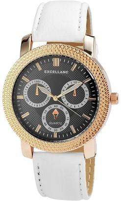 Excellanc Unisex Quartz Watch with Leather 295011000150