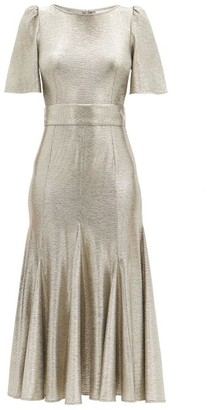 Goat Kordelia Butterfly-sleeve Metallic Jersey Dress - Silver