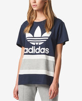 adidas Cotton Colorblocked Treifoil Relaxed T-Shirt