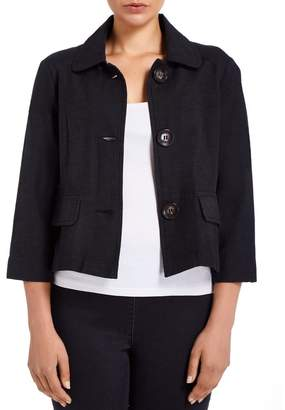 M&Co VIZ-A-VIZ collared cropped jacket