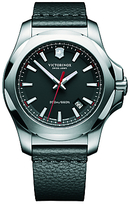 Victorinox 241737 I.n.o.x Date Leather Strap Watch, Black