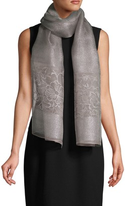 Saachi Emma Floral Embroidered Scarf