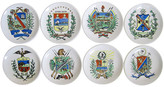 One Kings Lane Vintage Fornasetti-Style Italian Coasters - Set of 8 - The Emporium Ltd. - white/blue/green/red/yellow/multi-color