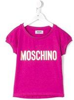 Moschino Kids - logo print T-shirt - kids - Cotton/Spandex/Elastane - 6 yrs