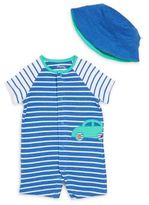 Offspring Baby's Two-Piece Bodysuit & Bucket Hat Set