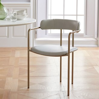 west elm Lenox Leather Dining Chair