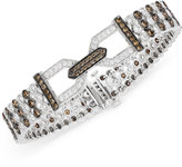 LeVian Le Vian Chocolatier® Chocolate Deco EstateTM Diamond (6-3/4 ct. t.w.) Bracelet in 14k White Gold