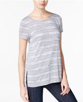 Kensie Striped High-Low T-Shirt, A Macy's Exclusive
