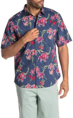 Tommy Bahama Tahitian Etch Stretch Hawaiian Shirt
