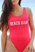 Vulcano Swimwear One Piece Red Swimsuit